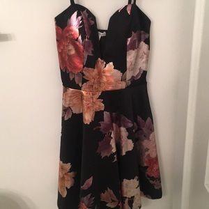 Formal Black/Floral Dress